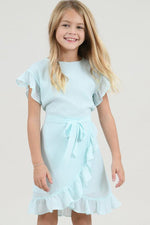 Girls Ruffle Dress | Mint