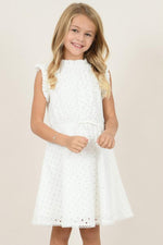 Girls English Lace Dress | White