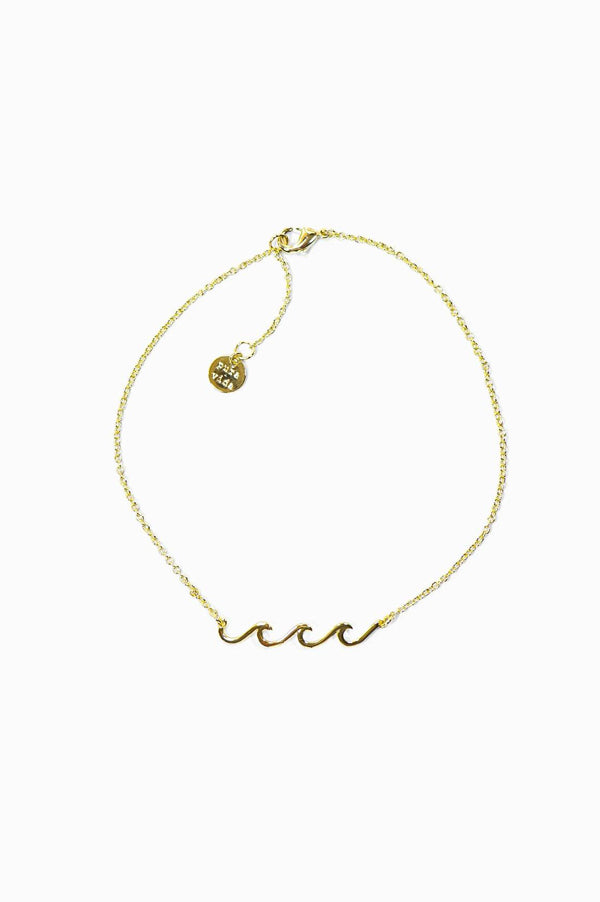 Delicate Wave Anklet | Gold