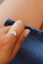 Half Moon Howlite Ring | Gold