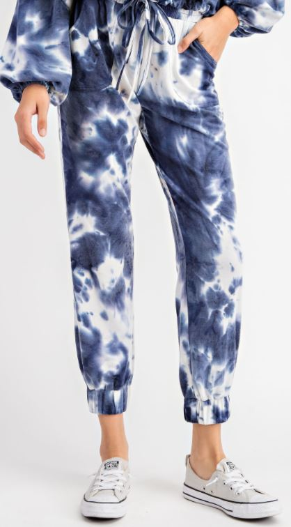 Tie Dye Sweatpants | Navy