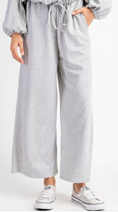 Wide Leg Sweatpants | Heather Grey