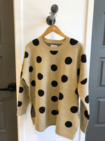 Gracie Polka Dot Sweater | Tan