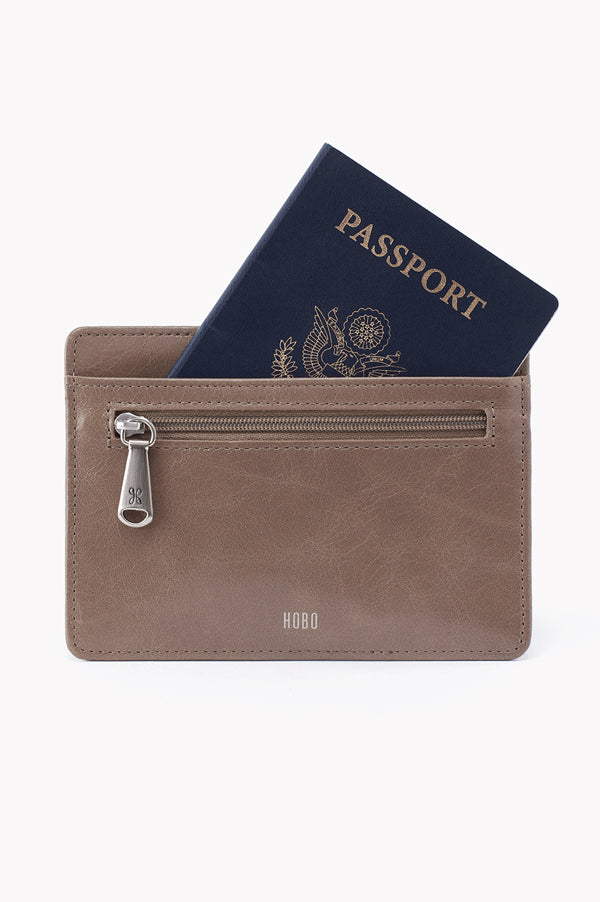 Euro Slide Leather Credit Card Wallet | Gravel