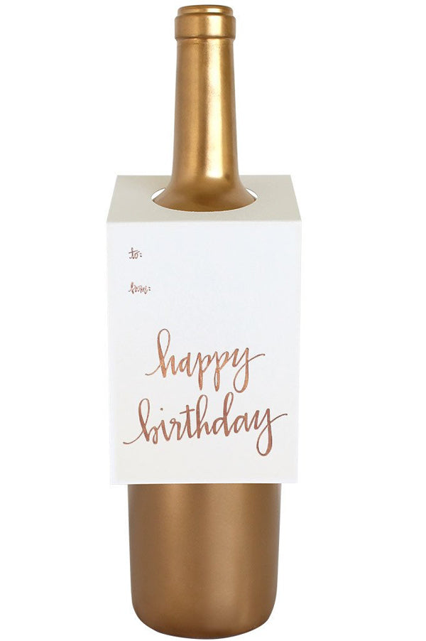 Wine & Spirit Tag | Happy Birthday