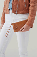King Leather Wristlet | Honey