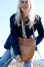 Port Leather Hobo Style Handbag | Honey
