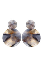 Sheila Fajl Isola Way Brushed Circle Drop Earrings