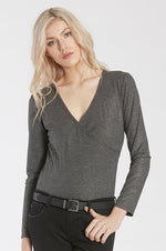 Jamie Long Sleeve Body Suit | Charcoal