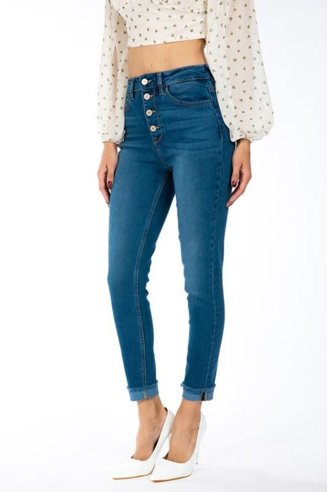 Gemma High Rise Ankle Skinny Jeans