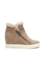 Later Days Low Wedge Sneaker | Taupe
