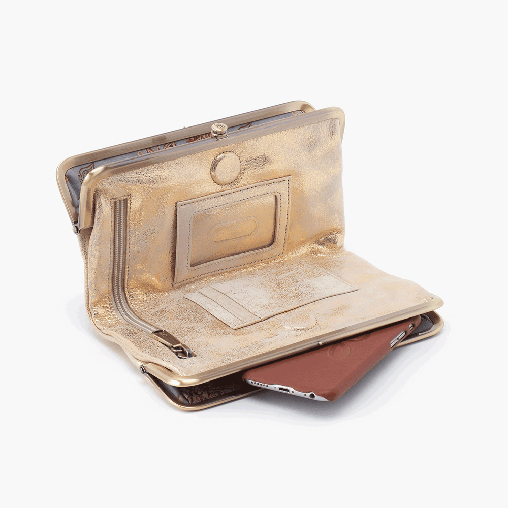 Lauren Clutch Wallet | Distressed Gold
