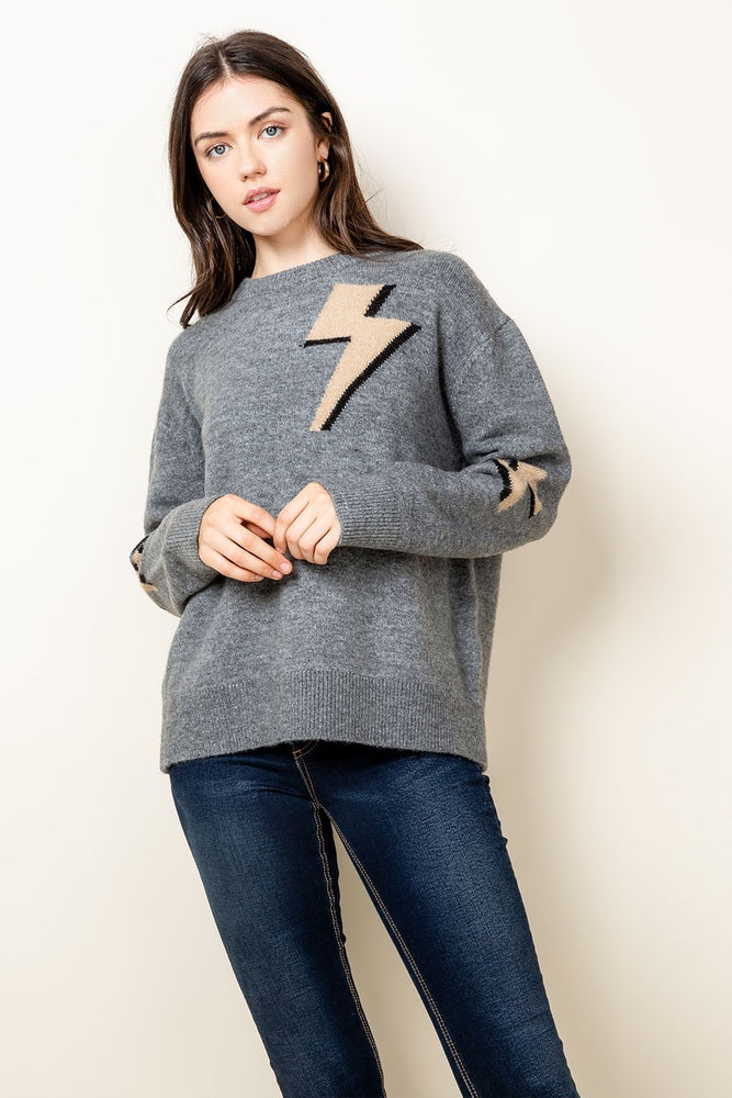 Lightning Bolt Sweater | Grey