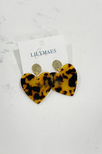 Lola Heart Earrings | Blonde Tortoise