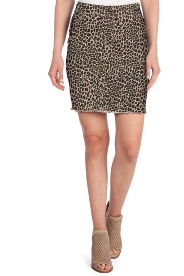 OMG Tan Leopard Skirt
