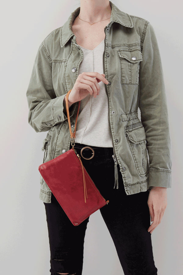 Darcy Leather Crossbody | Logan Berry