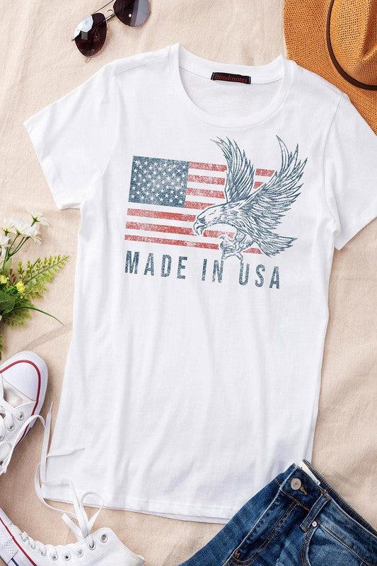 Made In USA Eagle T-shirt | White