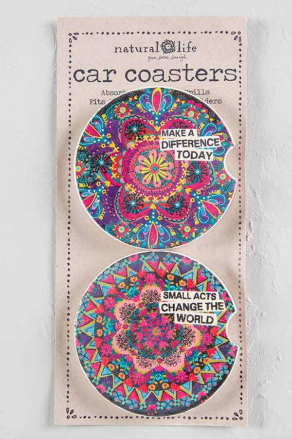 Car Coasters Set of 2 | Make a Difference