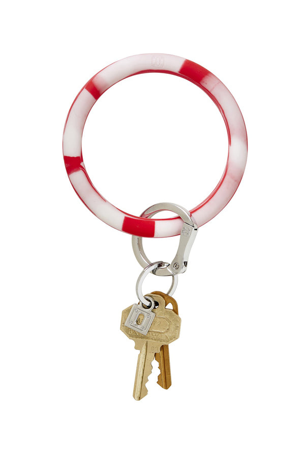 Silicone Key Ring | Marble Cherry on Top