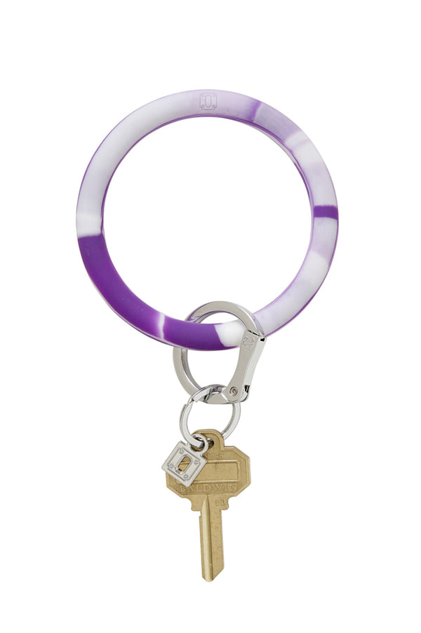 Silicone Key Ring | Marble Deep Purple
