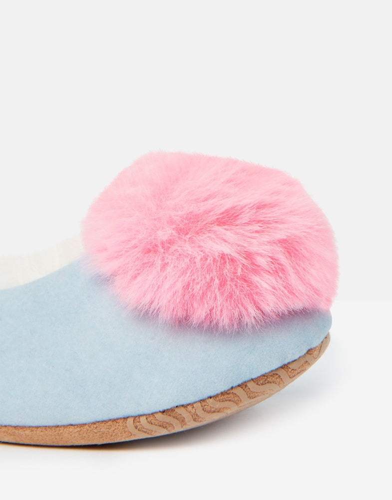 Pombury Ballet Slippers | Ice Blue