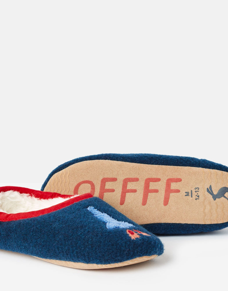 Slippet Felt Mule Slippers | Navy Rocket