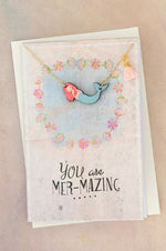 Necklace Greeting Card | Mermaid