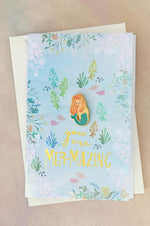 Enamel Pin Greeting Card | Mazing Mermaid