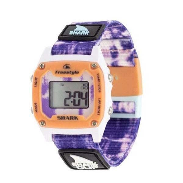 Mini Clip Shark Watch | Purple Burst Tie Dye