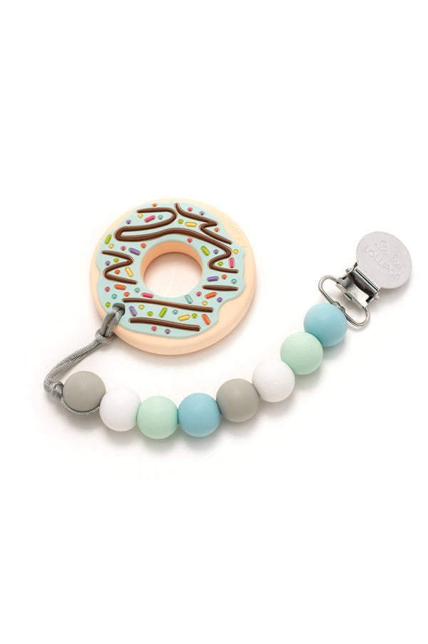 Silicone Teether Holder Set | Classic Donut Bite
