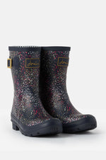 Molly Mid Height Printed Rain Boots | Navy