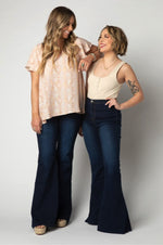 Moonshine Bell Bottoms | Dark Blue