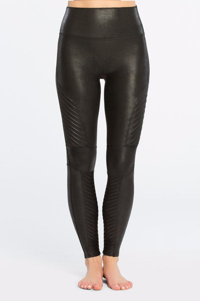 Faux Leather Moto Leggings | Black