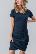 Ruched Bodycon Minidress | Navy