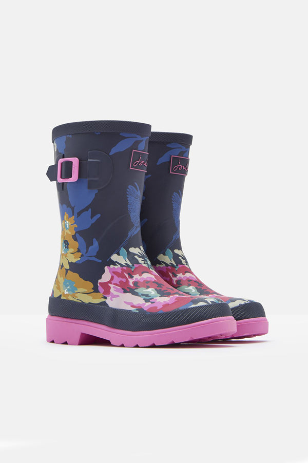 Rain Boots | Navy Floral