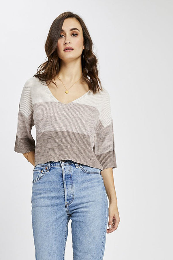 Nino Pullover Top | Light Mink