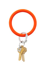 Silicone Key Ring | Orange Crush