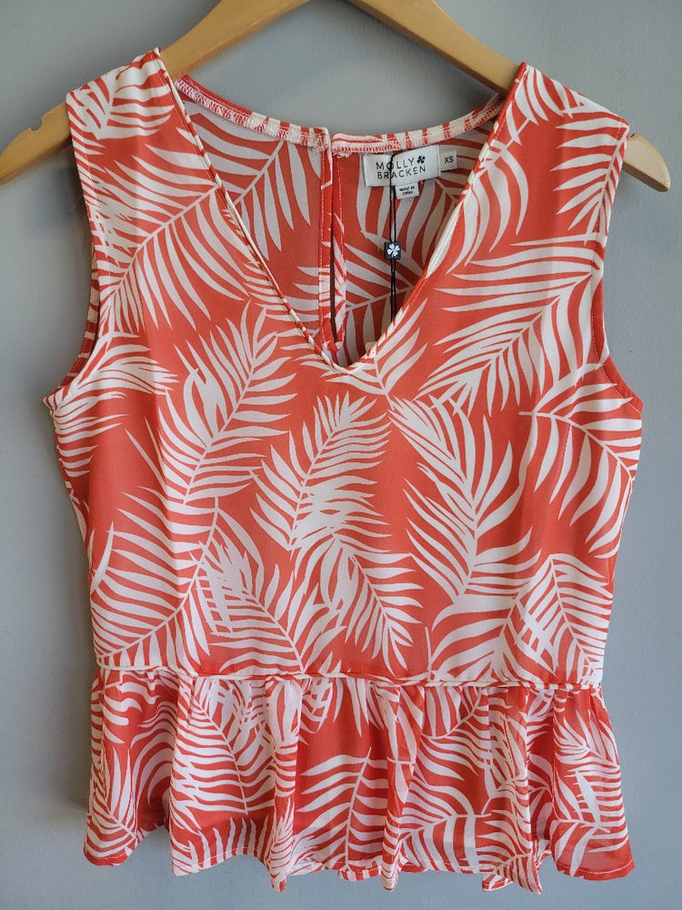 Palm V-Neck Printed Top
