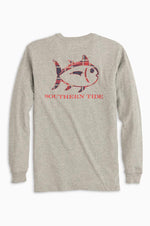 Long Sleeve Skipjack Shirt | Heather Grey