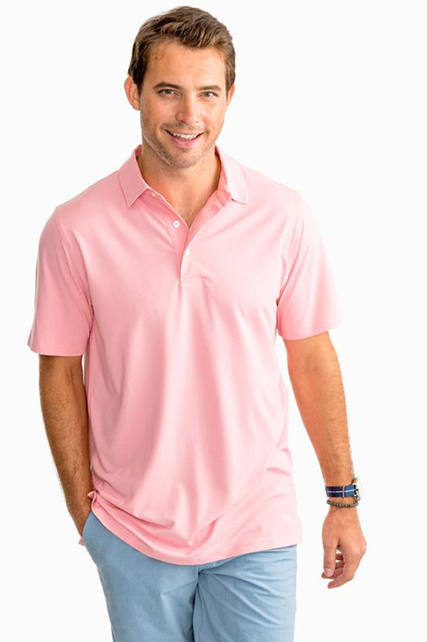 Driver Gold Polo Shirt | Guava Pink