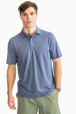 Driver Gold Polo Shirt | Yacht Blue