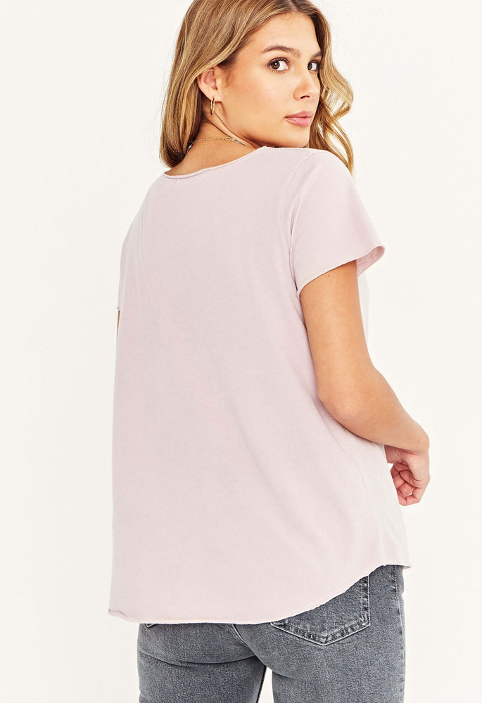 Moved On V-neck Tee | Purple Nirvana