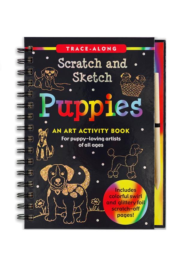 Trace Along Scratch & Sketch | Puppies