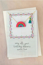 Necklace Greeting Card | Rainbow