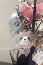 Fur Fuzzle Pom Clip | Rainbow Sloth