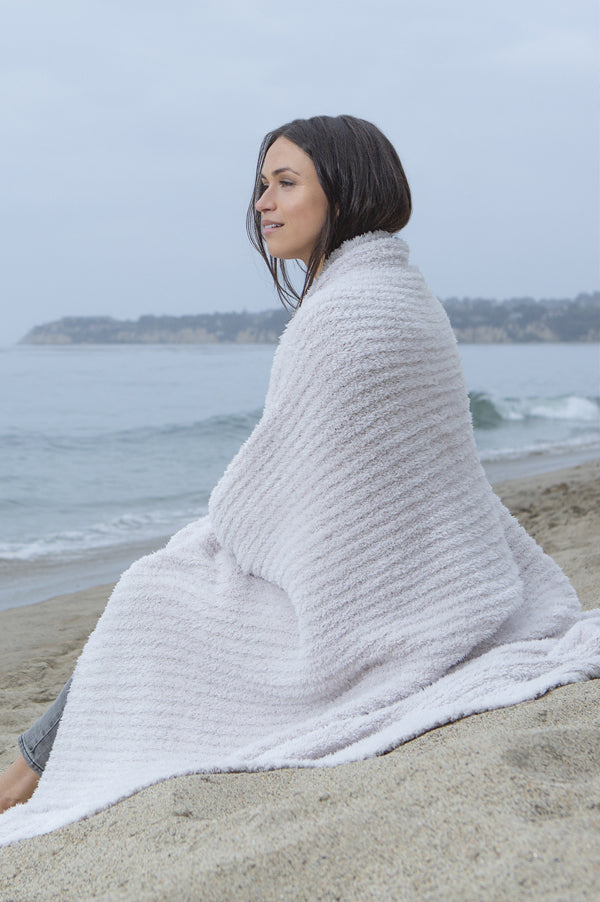 Cozy Chic Ribbed Throw Blanket | Almond