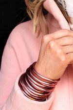All Weather Bangles Set of 3 | Rose Gold