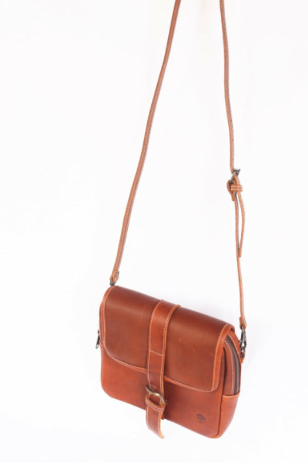 Satchel Leather Crossbody | Indio Whiskey