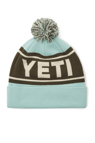 Retro Knit Beanie | Seafoam & Green