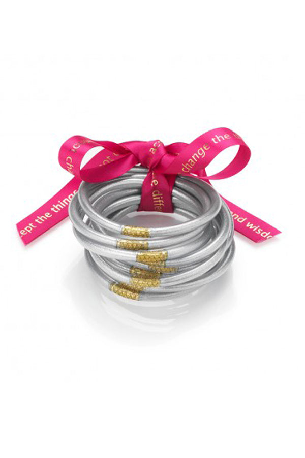 All Weather Bangles Set of 3 | Silver